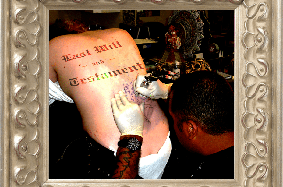 Brisbane Wills: Would you like to leave your Tattoos to your children? Make a will today!!